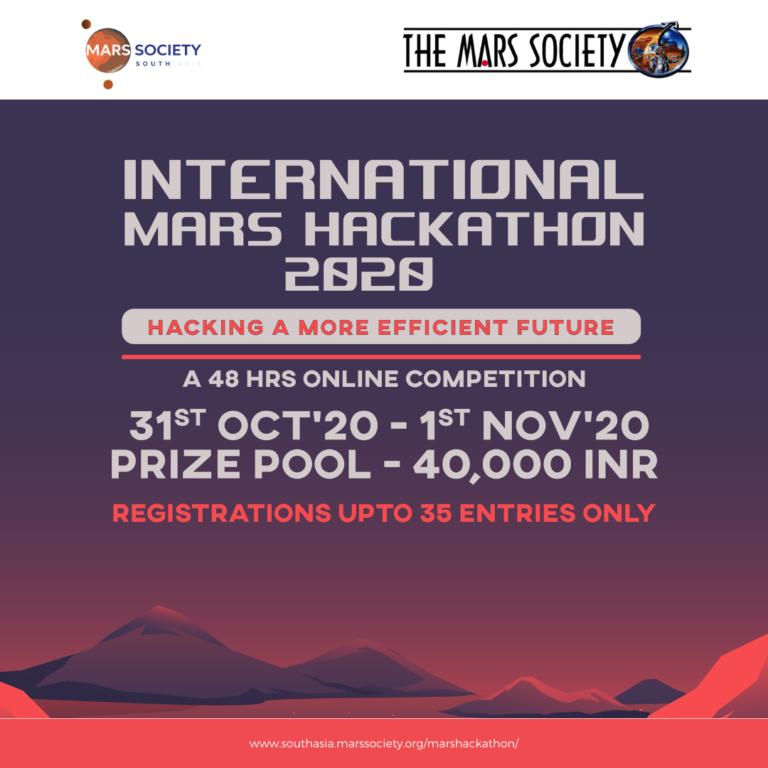 MSSA Announces International Mars Hackathon 2020