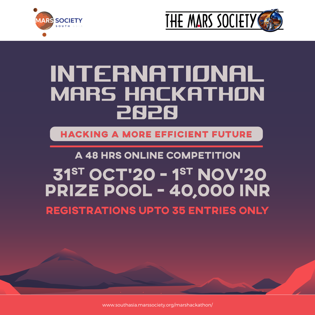 MSSA Announces International Mars Hackathon 2020